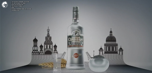 Russian Standard Vodka in Background Video Showcase