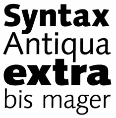 Professional Typefaces - Syntax