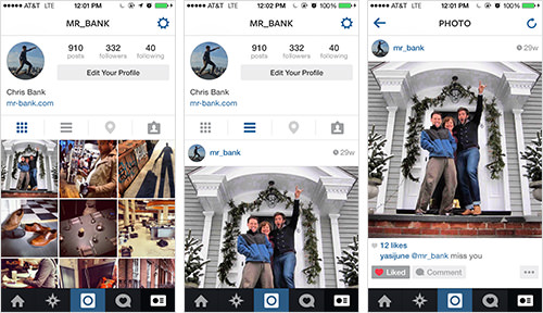 Viewing photos with Instagram's Mobile App