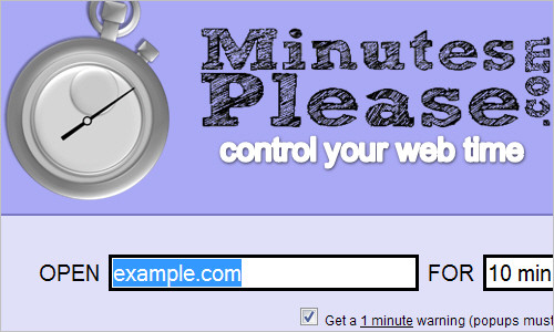 MinutesPlease.com - Manage your web time