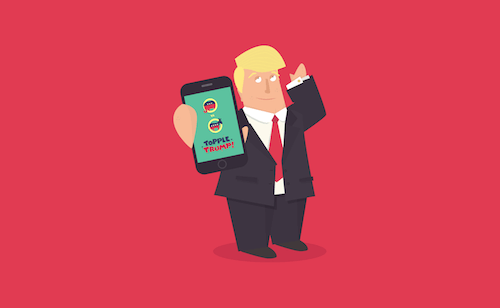 A game can make a difference, too. The author encourages users to use the hashtag #ToppleTrump to help raise awareness.
