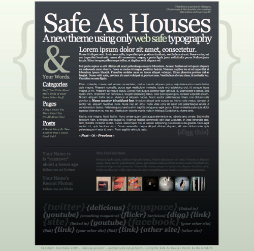 Type Layout For Free Download - Safe As Houses