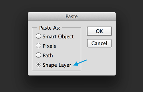 Paste your path as a shape layer.