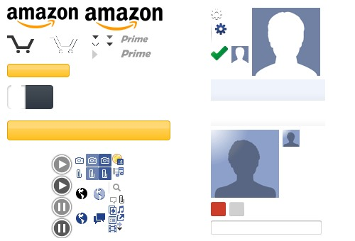 CSS sprites in the wild: Amazon, Google and Facebook.
