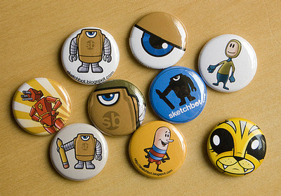 Pins, Badges and Buttons - sketchBot Buttons