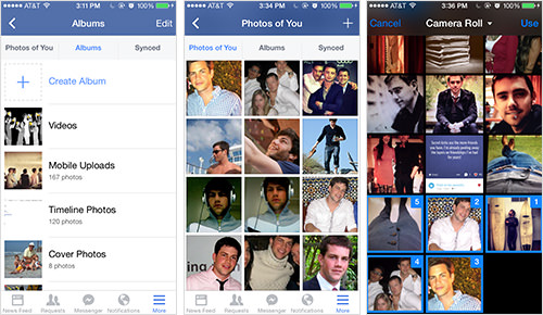 Managing Photos with Facebook's Mobile App