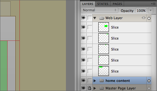 Slices can quickly be toggled on and off