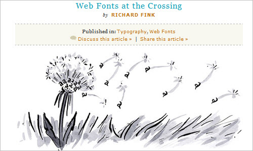 Web Fonts at the Crossing