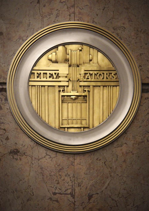 Wayfinding and Typographic Signs - art-deco-elevators