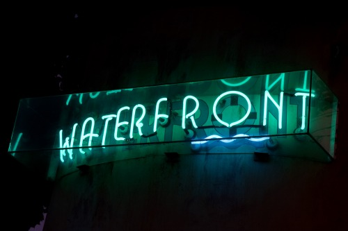 Wayfinding and Typographic Signs - waterfront-neon-sign