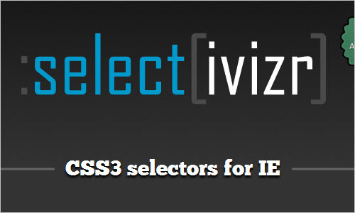 Selectivizr - CSS3 selectors for IE 6-8