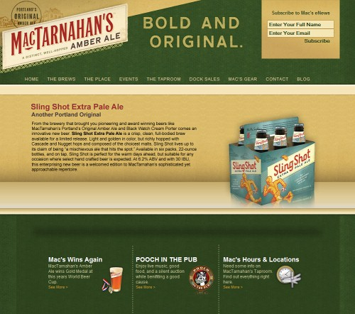 Retro and Vintage Designs - MacTarnahan's Brewing Company