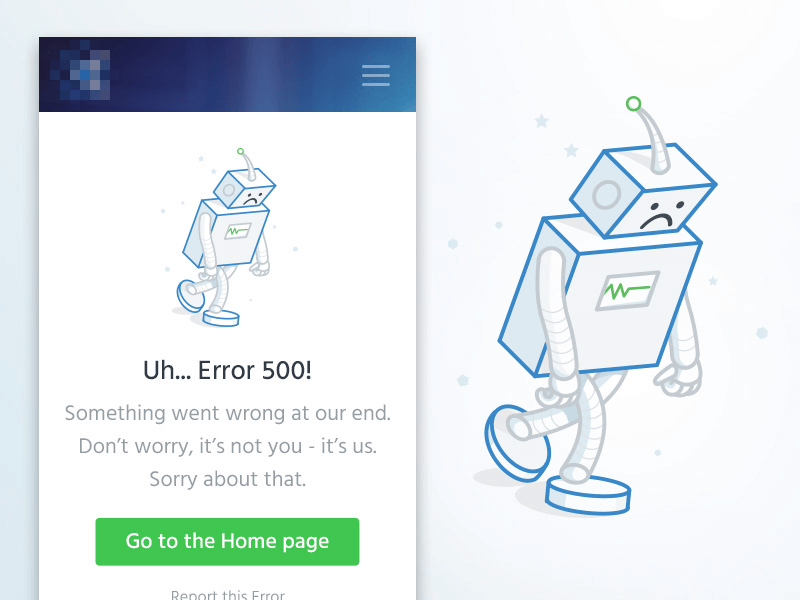 Your 404 page should offer a few key links and directions your user can choose between