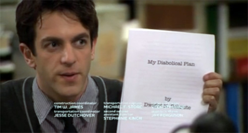 Screenshot from Season 6 Episode 11 of The Office