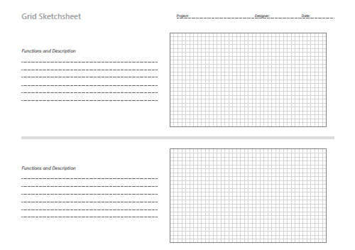 Free Printable Sketching Wireframing And NoteTaking Pdf Templates