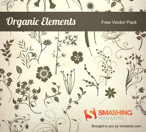 80 Organic Vector Elements in EPS [Freebie]