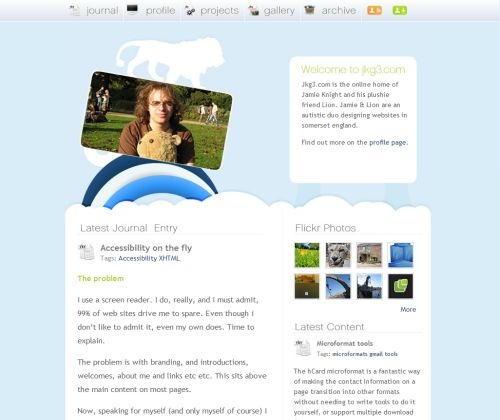 Screenshot Blog Design