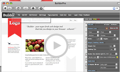 BuildorPro - next generation web design through the browser