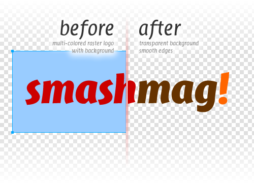 Extracting Logos Using Levels in Adobe Fireworks: the final result