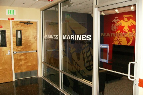 Wayfinding and Typographic Signs - usmc-recruiting
