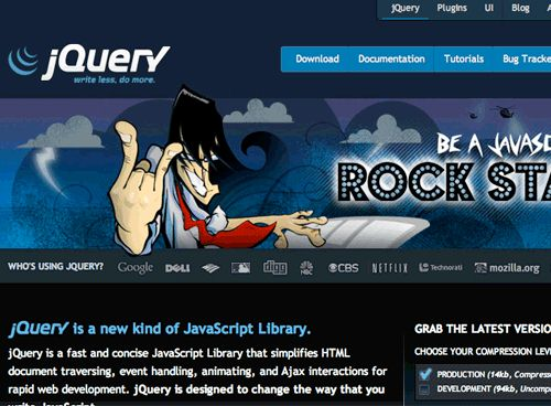 The jQuery website redesign