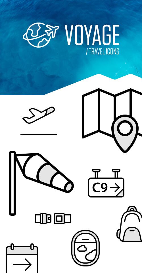 Voyage Icon Set