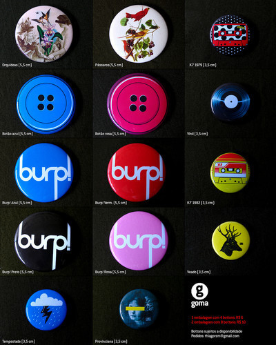 Pins, Badges and Buttons - Bota Fora Goma!