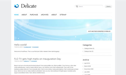 Delicate Free WP Theme