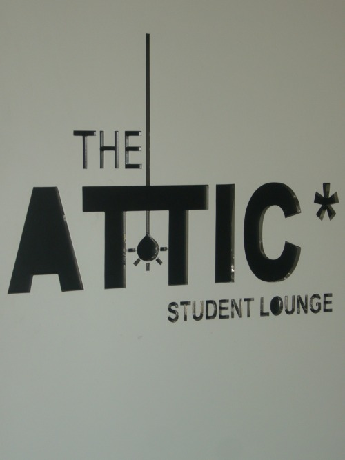 Wayfinding and Typographic Signs - student-lounge