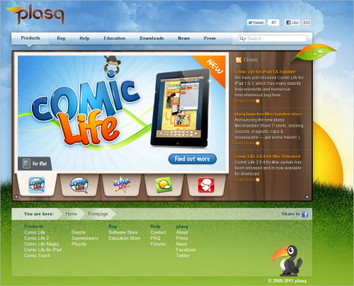 Plasq-homepage in Best Practices For Designing Websites For Kids