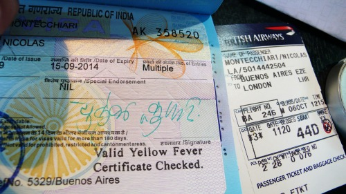 Wayfinding and Typographic Signs - indian-visa-and-plane-ticket