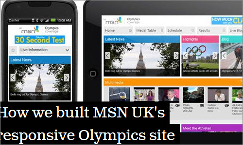 How we built MSN UK's responsive Olympics site