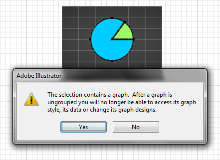 Ungrouping graphs in Illustrator