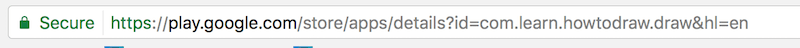 The app's resulting URL, taken from our build name