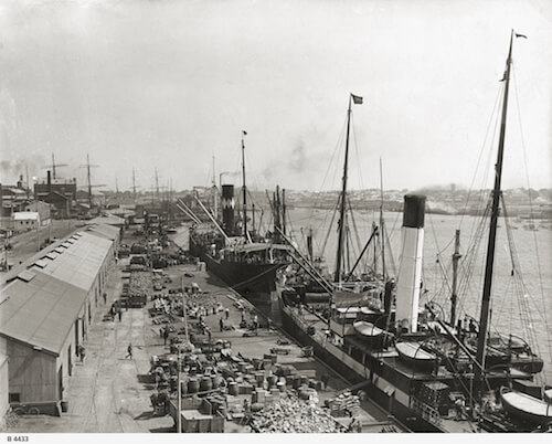 Queen's Wharf, Port Adelaide, before 1927.