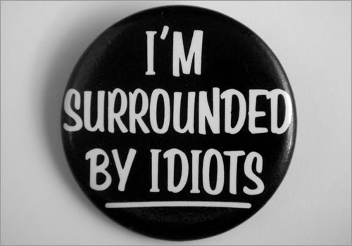 Idiots Button
