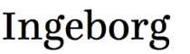 Small sample of the Ingeborg typeface