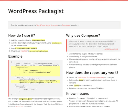 The WordPress Packagist.