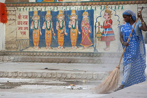 Sweeping. Varanasi