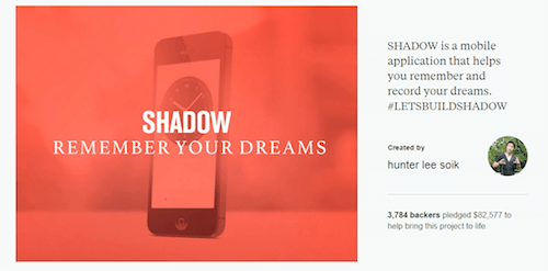 SHADOW | Community of Dreamers, a crowdfunding success