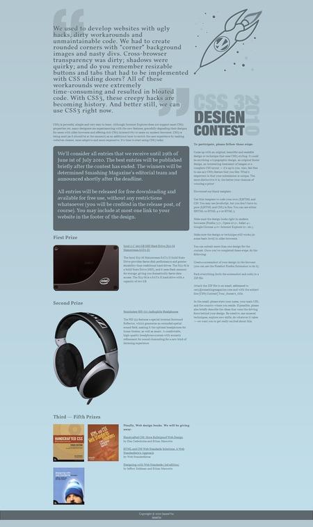 CSS3 Designs For Free Download - css3-rocket-man