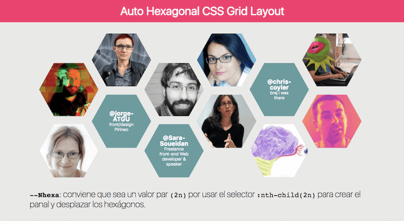 Auto Hexagonal CSS Grid Layout