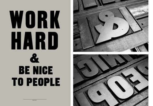 Interview With Designer Anthony Burrill: Work Hard And Be Nice To People
