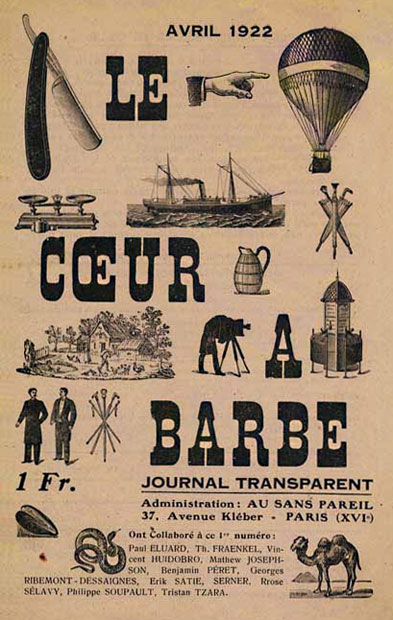 <em>Cover design for</em> Le Coeur à Barbe: Journal Transparent