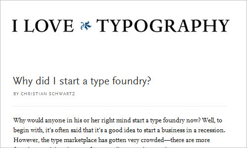 Why did I start a type foundry?