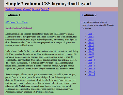 2-Column Layout