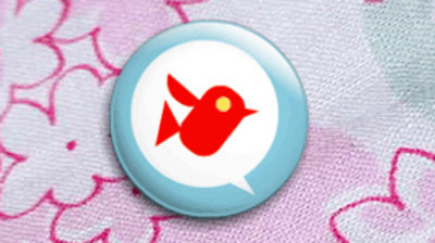 Pins, Badges and Buttons - Bird Talk (Red) badge