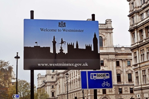 Wayfinding and Typographic Signs - westminster-sign