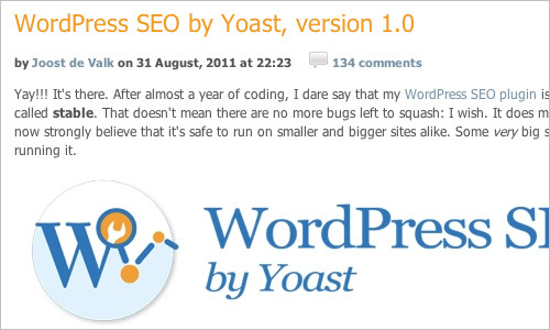 WordPress SEO by Yoast, version 1.0 — Yoast