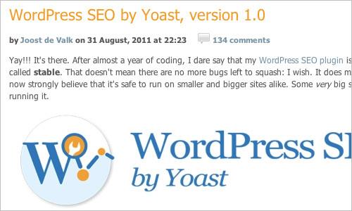 WordPress SEO by Yoast, version 1.0 — Yoast